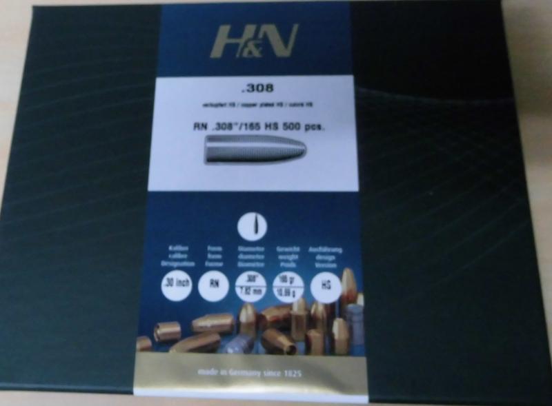 Geschosse H&N cal .30  mit 165gr