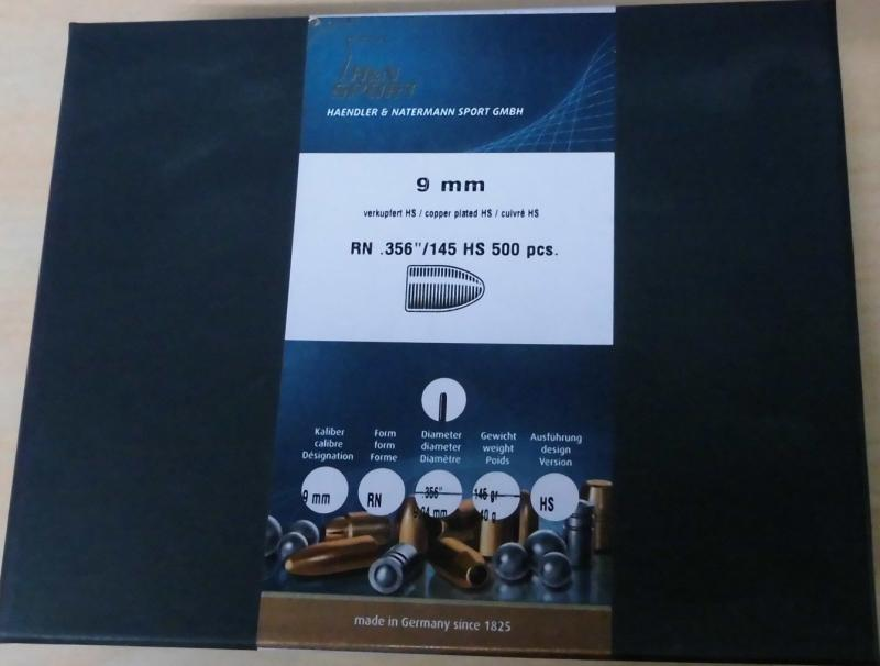 Geschosse H&N 9mm 145gr