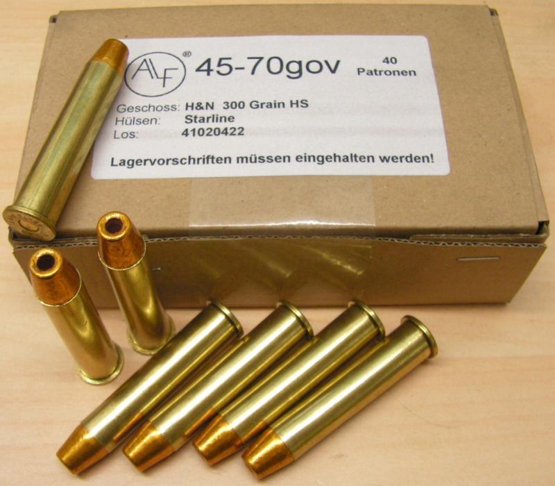 45/70 gov H&N 300gr HP